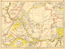 WALTON-ON-THAMES Shepperton Sunbury Esher East Molesey. GEOGRAPHERS A-Z 1948 map